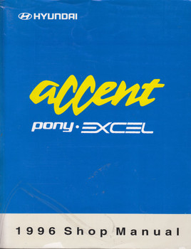 Hyundai Accent Pony Excel 1996 Shop Manual Vol 1 & 2 set