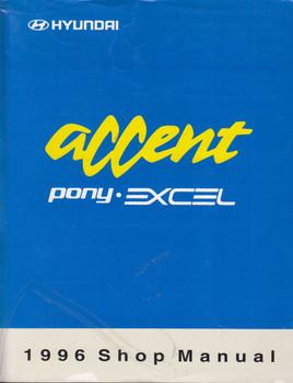 Hyundai Accent Pony Excel 1996 Shop Manual Vol 1 & 2 set