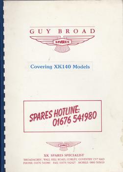 Jaguar XK140 Parts Catalogue