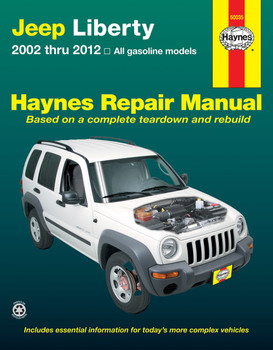 Jeep Liberty 2002 - 2012 Haynes Repair Workshop Manual (USA)