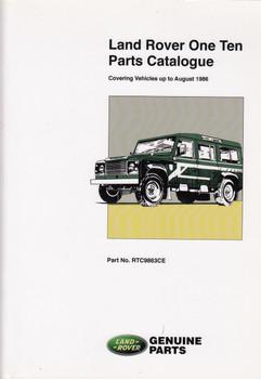 Land Rover One Ten Parts Catalogue