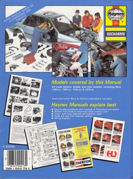 Lada 1200, 1300, 1500, 1600 1974 - 1991 (All models, incl. Riva) Workshop Manual