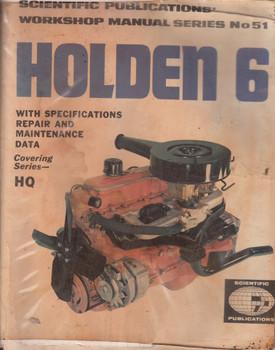 Holden 6 Cylinder HQ Workshop Manual Series No.51