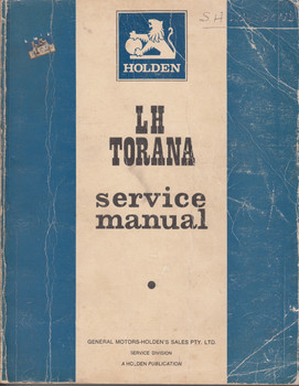 Holden LH Torana Service Manual