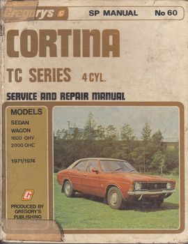 Ford Cortina TC Series 4 Cyl. Service and Repair Manual No 60 1971-1974