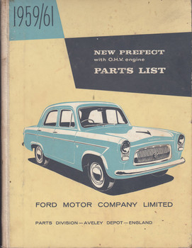 New Ford Prefect with OHV Engine Parts list 1959-1961