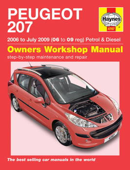 Peugeot 207 2006 to July 2009 (06 to 09 reg) Petrol & Diesel Haynes Workshop Manual