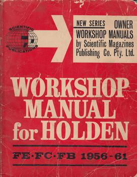 Holden Workshop Manual FE FC FB Models 1956-1961
