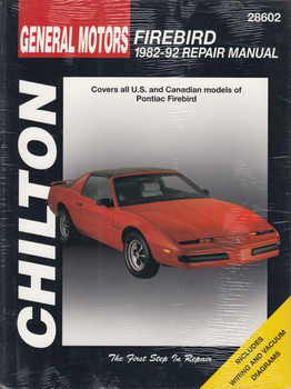 Pontiac Firebird (1982 - 1992) Chilton Repair Manual