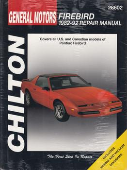 Pontiac Firebird (1982 - 1992) Chilton Repair Manual