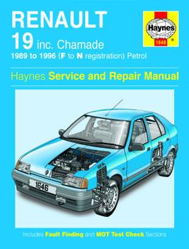 Renault 19 Petrol 1989 - 1996 Haynes Workshop Repair Manual