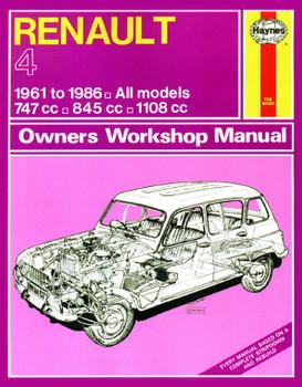Renault 4 1961 - 1986 Haynes Repair Workshop Manual