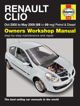 Renault Clio 2005 - 2009 Petrol & Diesel Haynes Workshop Manual