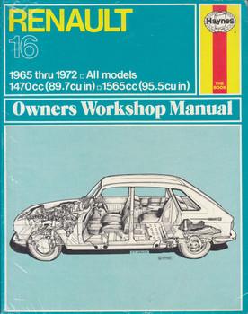 Renault 16 All Models 1965 - 1972 Haynes Owners Workshop Manual (US)