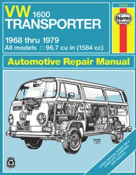 Volkswagen VW 1600 Transporter 1584cc (1968-1979) Haynes Repair Manual (USA)