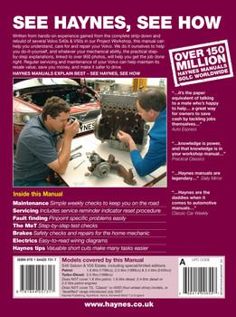 Volvo S40 & V50 Petrol & Diesel (Mar 2004 - Jun 2007) Haynes Repair Manual