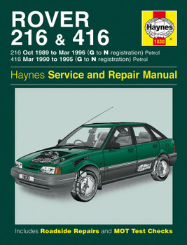 Rover 216 & 416 Petrol (1989 - 1996) Haynes Repair Manual