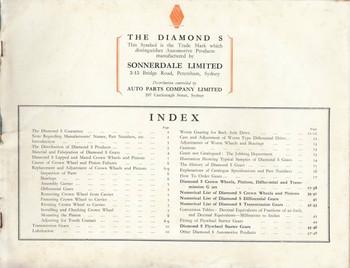 The Diamond S Gears Parts Catalogue
