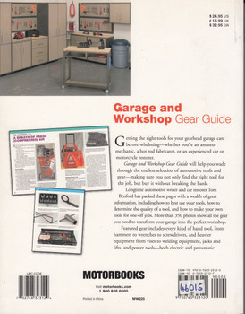 Garage and Workshop Gear Guide (Motorbooks Workshop by Tom Benford, 9780760323120)