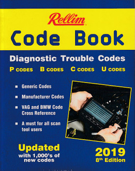 Rellim Code Book - Diagnostic Trouble Codes 2019, 8th Edition (9781876953782)