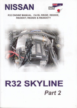 Nissan R32 Skyline Engine Manual (2 volumes - Factory Workshop / Repair Manual) (9781869762520)