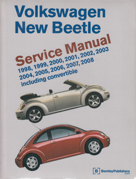 Volkswagen New Beetle 1998 - 2008 Incl. Convertible Service Manual (9780837615592)