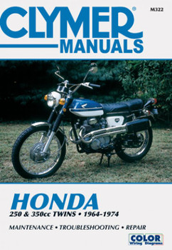 Honda 250 & 350 CC TWINS 1964-1974 Clymer Workshop Manual
