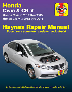 Honda Civic 2012 - 2015 & Honda CR-V 2012 - 2016 Workshop Manual (9781620922552)