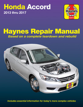 Honda Accord 2013 - 2017 Haynes Workshop Repair Manual