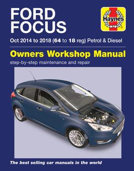 Ford Focus Petrol & Diesel 64 to 18 Oct 2014 - 2018 Haynes Repair Workshop Manual (9781785214172)