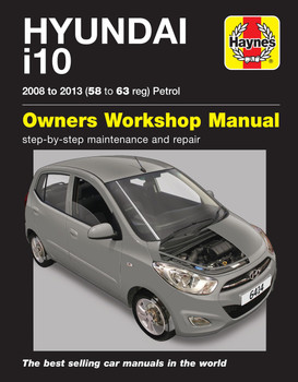 Hyundai i10 2008 - 2013 58 to 63 Petrol Haynes Workshop Repair Manual (9781785214141)