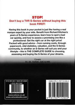TVR S-series: S1, 280S, S2, S3, S3C, S4C, 290S & V8S 1986 to 1995  By Richard Kitchen