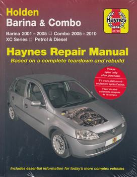 Holden Barina 2001 - 2005 & Combo 2005 - 2010 XC Series Petrol & Diesel Workshop Manual