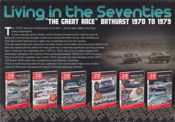 """Living In The Seventies """"The Great Race"""" Bathurst 1970 - 1979 6 DVD Box Set DVD (Exclusive Collectors Edition) (9340601001596)"""