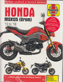 Honda MSX125, MSX125A (Grom) 2013 - 2018 Haynes Workshop Manual