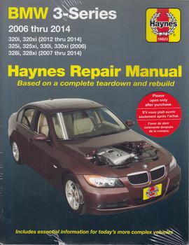 BMW 3-Series (320i, 320xi, 325i, 325xi, 330i, 330xi, 328i, 328xi ) 2006 - 2014 Haynes Repair Workshop Manual (9781620922163)