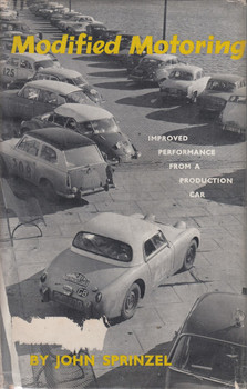 Modified Motoring - Improved Performance from a Production Car (John Sprinzel, Hardcover, 1st edition 1959)