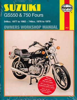 Suzuki GS550 & GS750 Fours 1976 - 1982 Workshop Manual