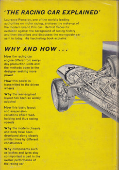 The Racing Car Explained (Laurence Pomeroy, Hardcover, 1st Ed 1963)