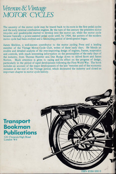 Veteran and Vintage Motor Cycles (James Sheldon, Hardcover, 1971) (9780851840000)