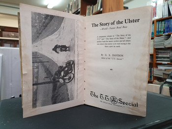 The Story of the Ulster - World's Fastest Road Race (Hardcover by Davison G.S, 1949 1st Ed)