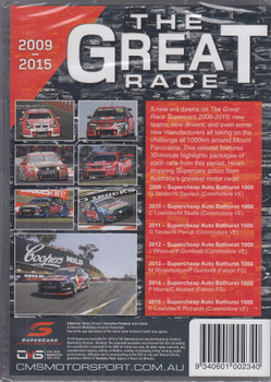 The Great Race 2009 to 2015 Supercars DVD (9340601002340)