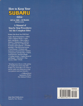 How To Keep Your Subaru Alive Second Edition (Larry Owens) (9780945465119)