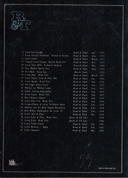 Road & Track On Lotus 1972-1983 Road Tests (9780946489039)