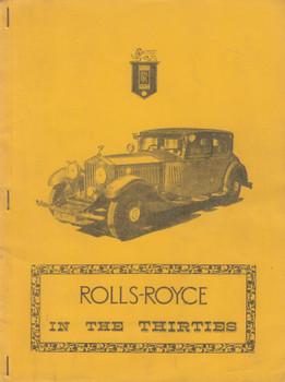 Rolls-Royce In The Thirties Road Tests (B01MCQEVH0)