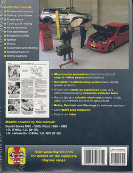 Suzuki Sierra & Vitara 1988 - 1998 Workshop Manual (9781620923405)