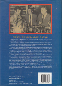 Sarich - The Man And His Engines (Pedr Davis) 1st Edn. 1989 (9780947079086)