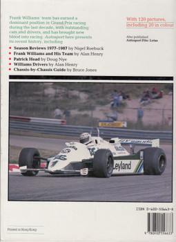Williams (Autosport File) Hardcover 1st Edn. 1988 (9780600556633)