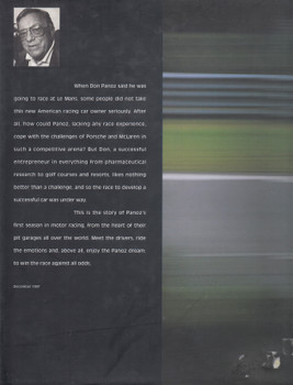 The Race (Don Panoz) Hardcover 1st Edn 1997 (9780860249610)