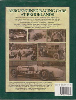 Aero-Engined Cars At Brooklands (William B. Boddy) Hardcover 1st Edn. 1992 (9780854298679)